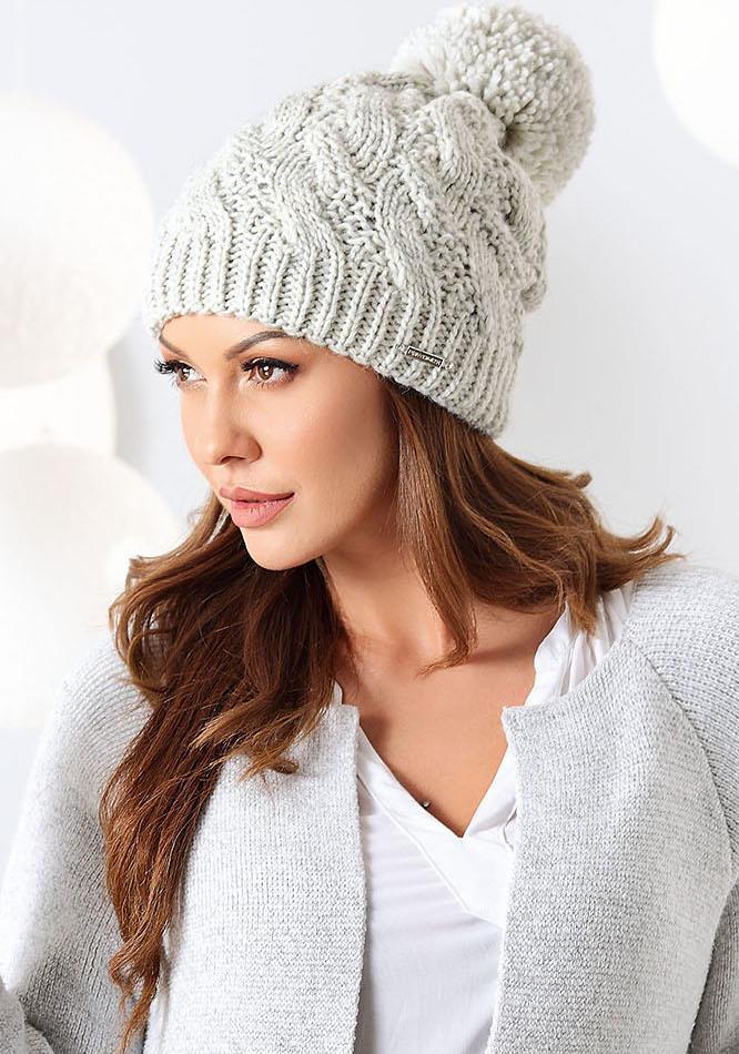 czapka zimowa damska Ewelina z pomponem