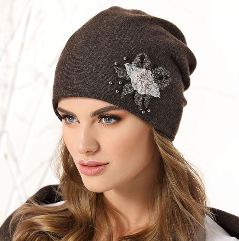 modna czapka damska Rose